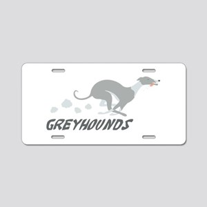 GREYHOUNDS Aluminum License Plate