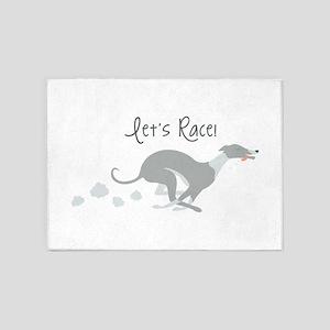 Let's Race! 5'x7'Area Rug