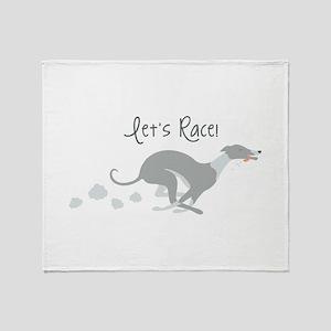 Let's Race! Throw Blanket