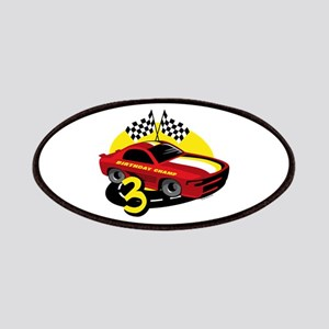 Race Car 3rd Birthday Patches