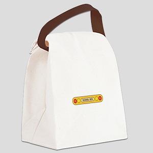 School Bus Canvas Lunch Bag