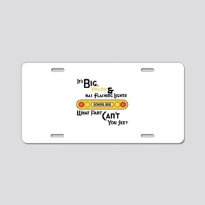 Big And Yellow Aluminum License Plate