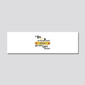 Big And Yellow Car Magnet 10 x 3