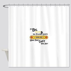 Big And Yellow Shower Curtain