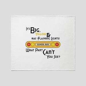 Big And Yellow Throw Blanket