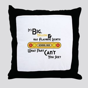 Big And Yellow Throw Pillow
