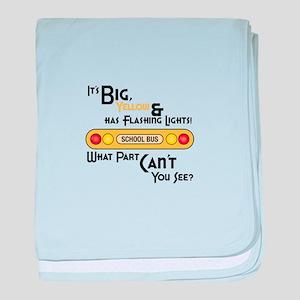 Big And Yellow baby blanket