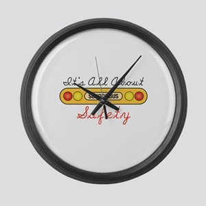 Its All About Safety Large Wall Clock