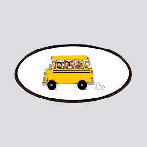 School Bus with Kids Patches