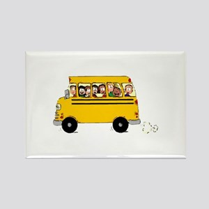 School Bus with Kids Magnets