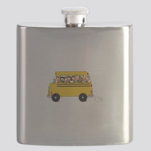 School Bus with Kids Flask