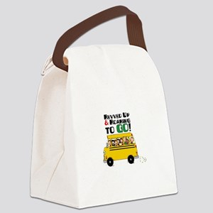 Revved Up And Roaring To Go! Canvas Lunch Bag