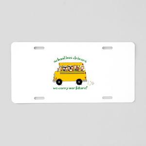 School Bus Drivers Aluminum License Plate