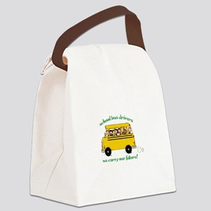 School Bus Drivers Canvas Lunch Bag