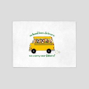 School Bus Drivers 5'x7'Area Rug