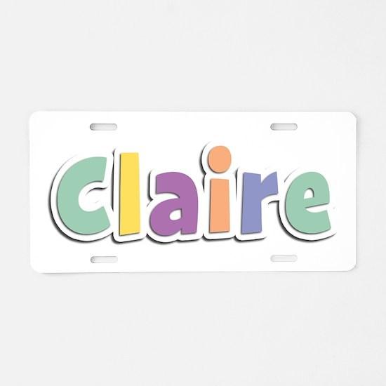 Claire Spring14 Aluminum License Plate