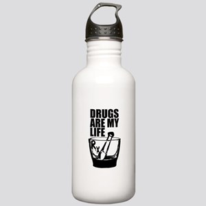 Drugs Are My Life Stainless Water Bottle 1.0L