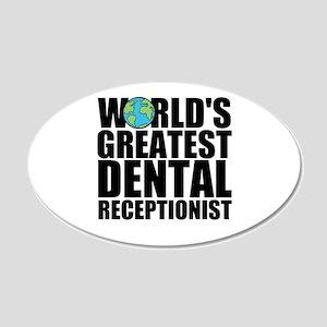 World's Greatest Dental Receptionist Wall Deca