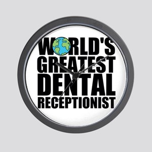 World's Greatest Dental Receptionist Wall Cloc