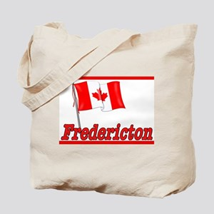 Canada Flag - Fredericton Text Tote Bag