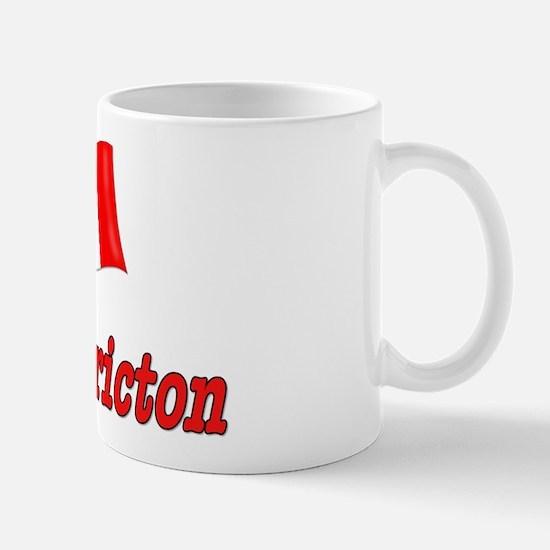 Canada Flag - Fredericton Text Mug