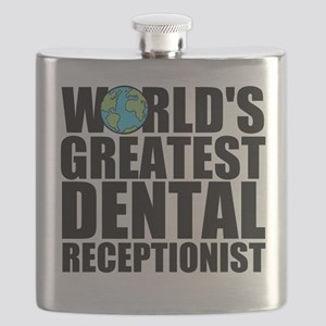 World's Greatest Dental Receptionist Flask