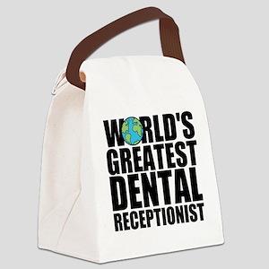 World's Greatest Dental Receptionist Canvas Lu