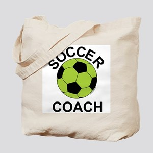 Soccer Coach Green Tote Bag