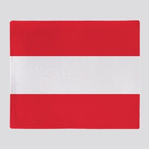 Flag Of Austria Throw Blanket