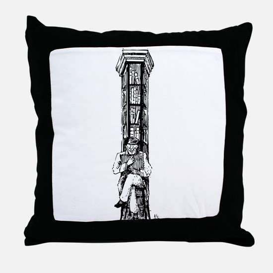 Happy librarian Throw Pillow