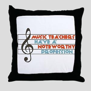 Music Teacher Throw Pillow