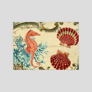 modern beach seashells seahorse coral paris art 5'