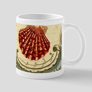 modern beach seashells seahorse coral paris art Mu
