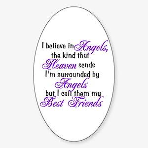 I believe in angels, Oval Sticker