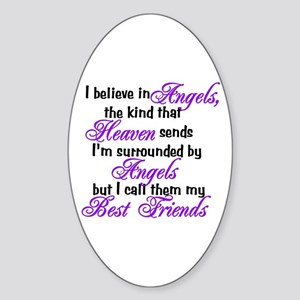 I believe in angels, Oval Sticker