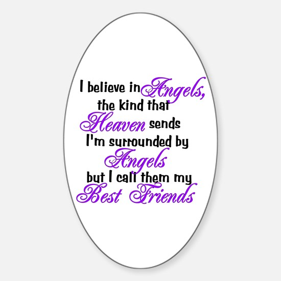 I believe in angels, Oval Decal