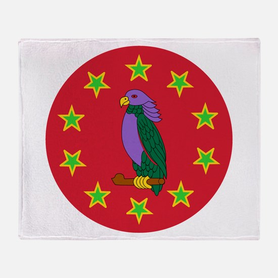 Sisserou Parrot Throw Blanket