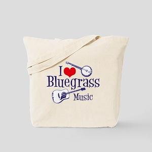 I Love Bluegrass Tote Bag