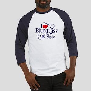 I Love Bluegrass Baseball Jersey