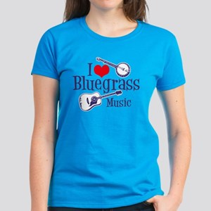 I Love Bluegrass Women's Dark T-Shirt