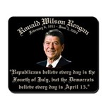 Reagan Republicans vs. Democrats Mousepad