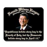 Reagan Republicans vs. Democrats Mousepad
