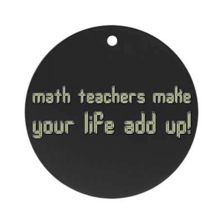 Math Teacher Ornament (Round)