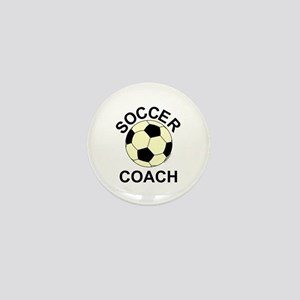 Soccer Coach Yellow Mini Button