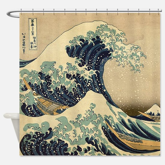 Japanese Waves Shower Curtain