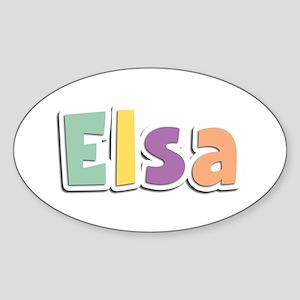 Elsa Spring14 Oval Sticker