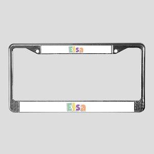 Elsa Spring14 License Plate Frame