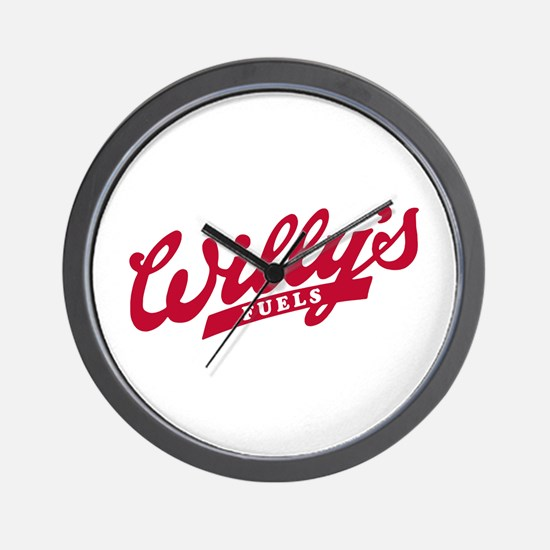 Willys Logo red.png Wall Clock