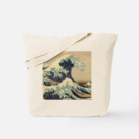 Japanese Waves Tote Bag