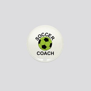 Soccer Coach Green Mini Button